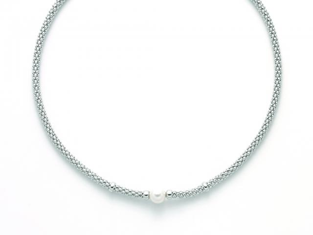 Collana MILUNA con Perla in argento 925% MISS ITALIA PCL5835B