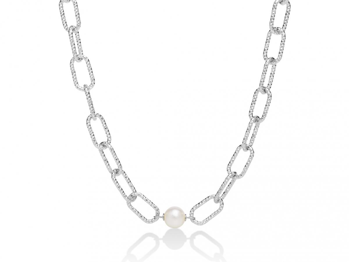 Collana MILUNA con Perla in argento 925% MISS ITALIA PCL6070B