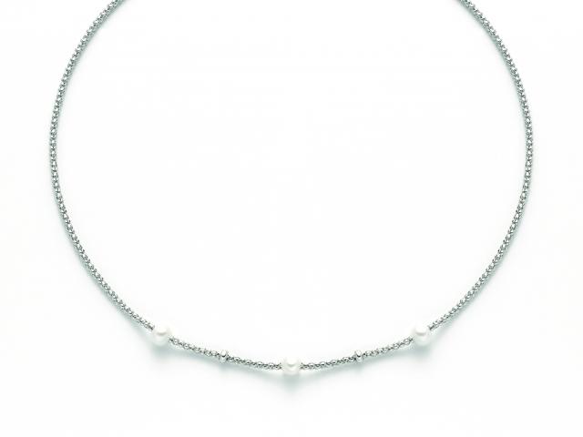 Collana MILUNA con Perle in argento 925% MISS ITALIA PCL5800