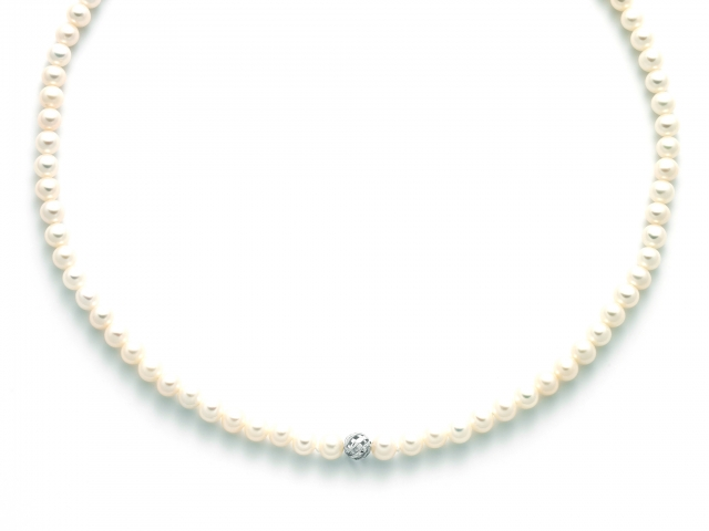 Collana Miluna con Perle in oro bianco 18kt PCL5486