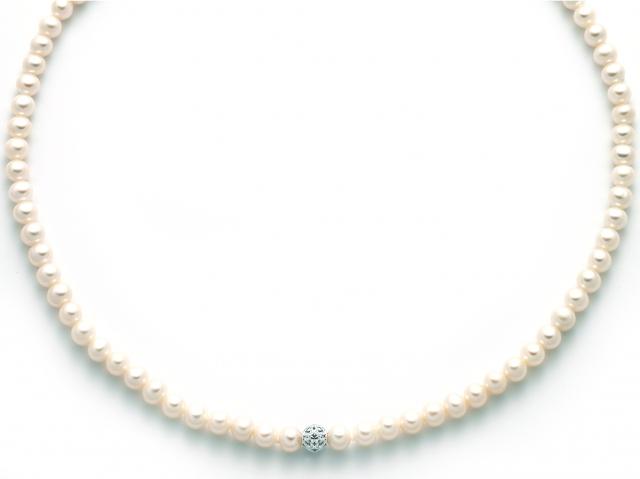 Collana Miluna con Perle in oro bianco 18kt PCL5517