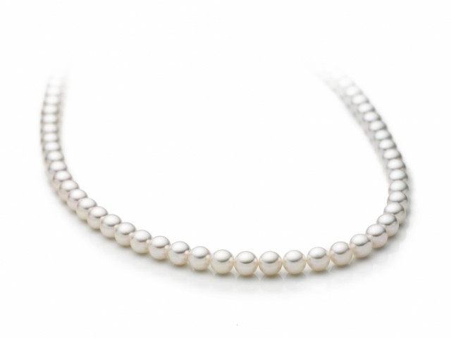 Collana Miluna in oro bianco 18kt con Perle Naturali PCL4195