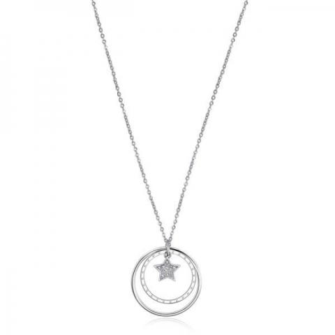 Collana S'Agapò by BrosWay collezione LUCY in acciaio e cristalli