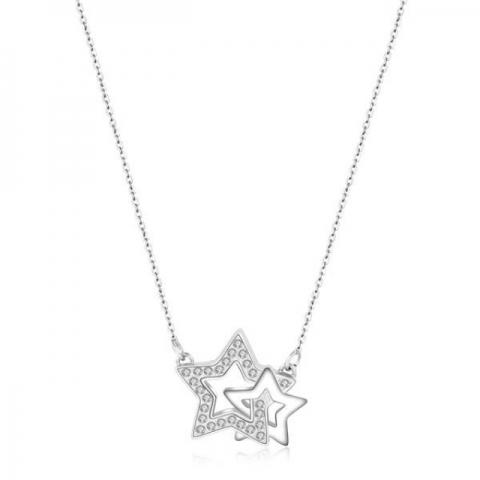 Collana S'Agapò by BrosWay collezione TWICE in acciaio e cristalli