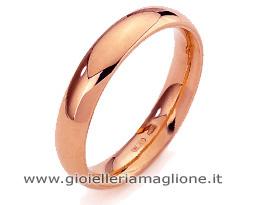 Fede Nuziale Diana Classica da 5 grammi oro rosa 18kt