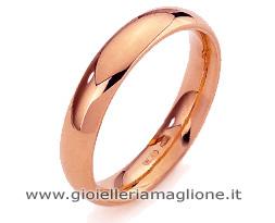 Fede Nuziale Diana Classica da 7 grammi oro rosa 18kt