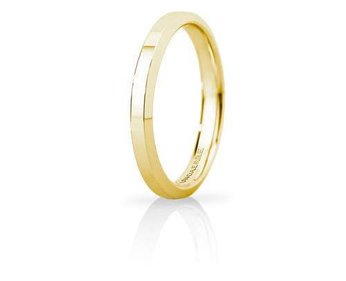 Hydra Slim - 18K Yellow Gold Wedding Ring Unoaerre