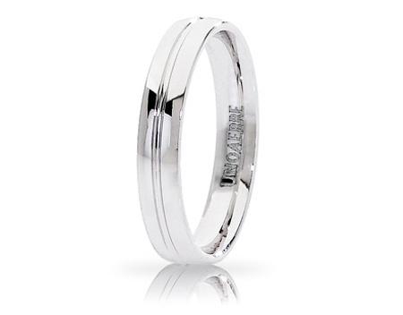 LYRA - 18K White Gold Wedding Ring Unoaerre