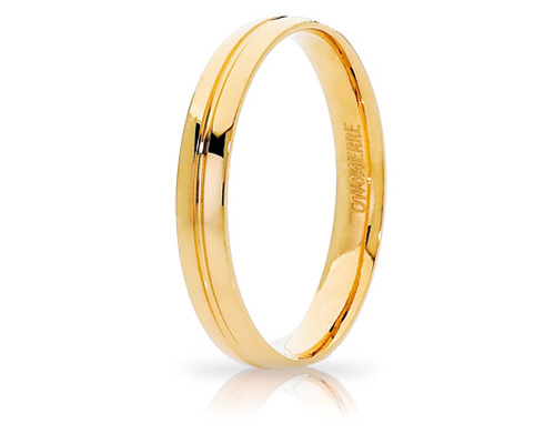 LYRA - 18K Yellow Gold Wedding Ring Unoaerre
