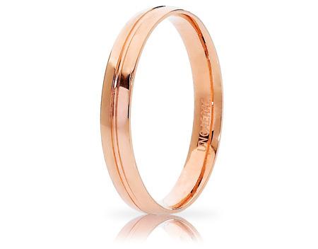 LYRA - 18K Rose Gold Wedding Ring Unoaerre