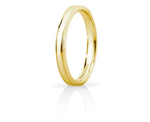 Fede Nuziale Unoaerre modello Orion Slim in oro giallo 18kt