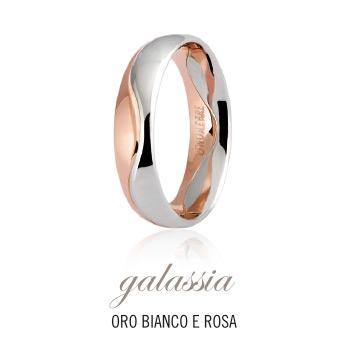 Fede UNOAERRE modello GALASSIA in oro bianco e rosa 18kt collezione 9.0