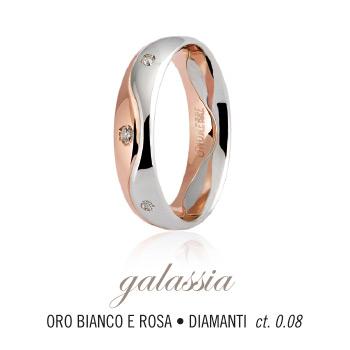 Fede UNOAERRE modello GALASSIA in oro bianco e rosa 18kt e diamanti collezione 9.0