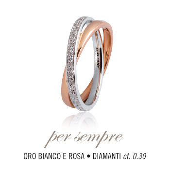 UNOAERRE Wedding Ring in 18k gold and diamonds