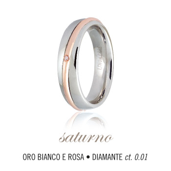 UNOAERRE Wedding Ring in 18k gold and diamond