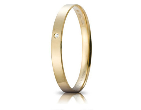 18K Yellow Gold and Natural Diamond Engagement Ring Gelsomino Unoaerre