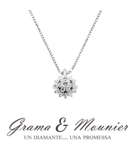 Girocollo fantasia Grama & Mounier con Diamanti da 0.66ct in oro bianco 18kt GM089
