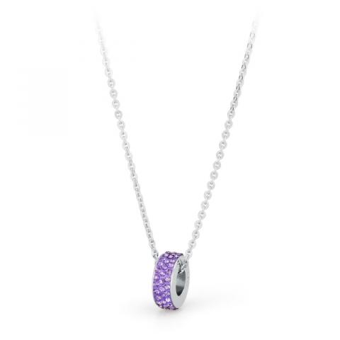 Girocollo S'Agapò by BrosWay collezione Crystal Ring in acciaio con cristalli