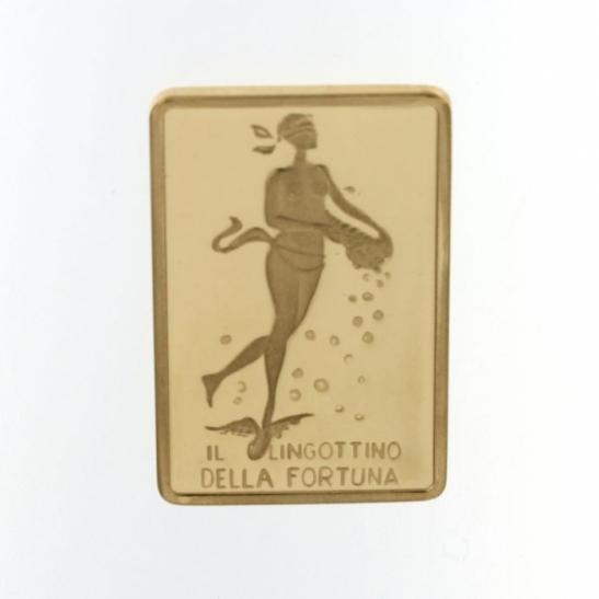 Lingottino della Fortuna in oro 750% da 20 grammi per investimento