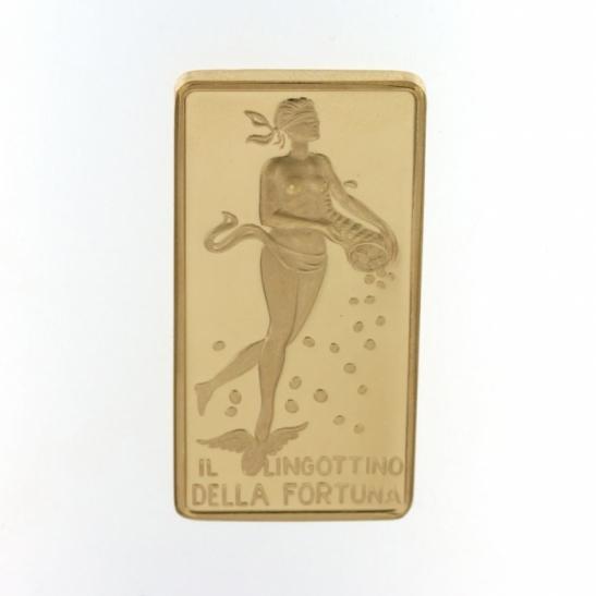 Lingottino della Fortuna in oro 750% da 50 grammi per investimento