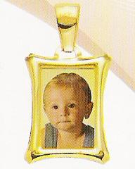 Medaglia foto personalizzabile mod. MA/colore oro giallo 18kt