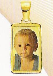 Medaglia foto personalizzabile mod. MB/colore oro giallo 18kt
