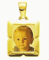 Medaglia foto personalizzabile mod. ME/colore oro giallo 18kt