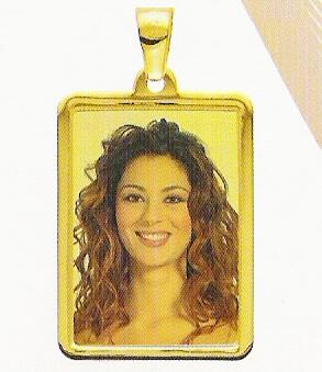 Medaglia foto personalizzabile mod. MF/colore oro giallo 18kt
