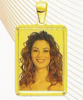 Medaglia foto personalizzabile mod. MG/colore oro giallo 18kt