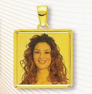 Medaglia foto personalizzabile mod. NF/colore oro giallo 18kt