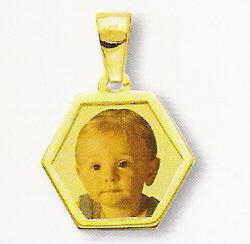 Medaglia foto personalizzabile mod. NG/colore oro giallo 18kt