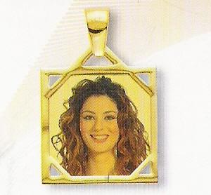 Medaglia foto personalizzabile mod. SA/colore oro giallo 18kt