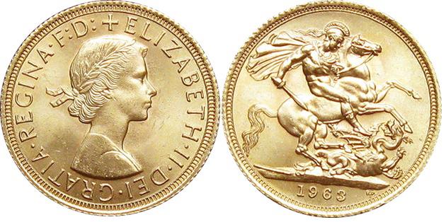 Moneta Sterlina Inglese nuovo conio in oro 22kt per investimento