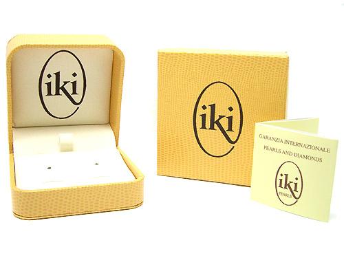 Orecchini IKI in oro bianco 18kt con Perle Coltivate Giapponesi Akoya 7.00mm e Diamanti