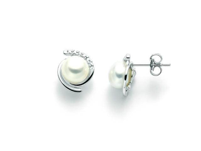 Orecchini Miluna con Perle e Diamanti in oro bianco PER2209X
