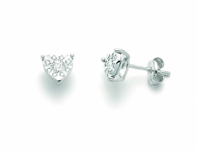 Orecchini Miluna forma Cuore con Diamanti da 0.22ct totali ERD2462
