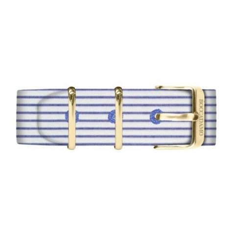 Orologio Boccadamo Uomo serie Prince con cinturino sartoriale a righe strette