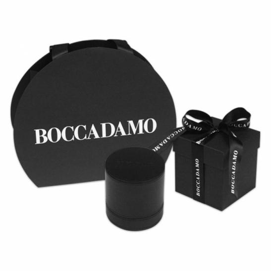 Orologio Boccadamo Uomo serie Vintage con cinturino in pelle e quadrante nero