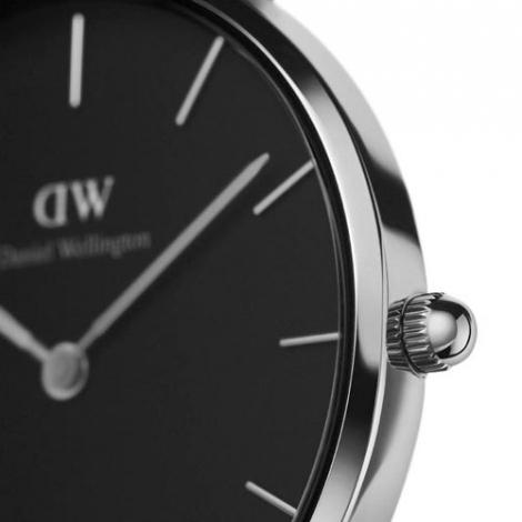 Orologio Daniel Wellington Classic Petite Sterling nero e argento 28 mm