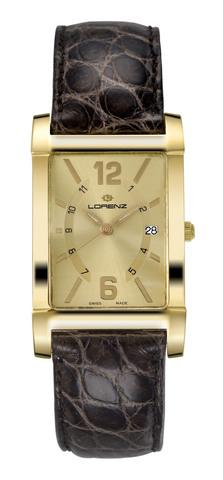 Orologio Lorenz Portoro in oro 18kt con cinturino in coccodrillo