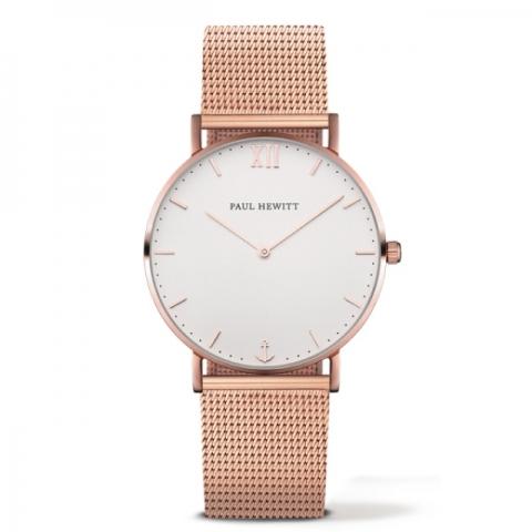 Orologio Paul Hewitt Sailor Line ip Oro Rosa quadrante White Sand bracciale ip oro rosa