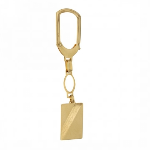 18K Yellow Gold Key Ring