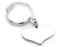 GioielleriaMaglione.it - 925 White Silver Heart Ring customizable with name