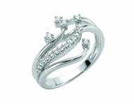 Anello fantasia Miluna con Diamanti in oro bianco 18kt LID2927
