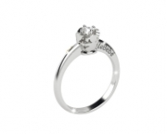 GioielleriaMaglione.it - Le Bebè - 18k White Gold with 0.20ct Diamond Boy and Girl Ring
