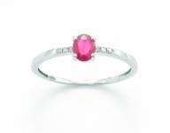 GioielleriaMaglione.it - Anello Miluna con Rubino 0.40ct e Diamanti in oro bianco LID3048X