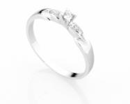 GioielleriaMaglione.it - Anello Solitario Diamonds Luxury con Diamante da 0.07ct in oro bianco 18kt