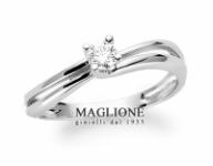 GioielleriaMaglione.it - Anello solitario Miluna con Diamante Naturale 0.06ct in oro bianco 18kt LID2301