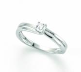 GioielleriaMaglione.it - Anello solitario Miluna con Diamante Naturale 0.11ct in oro bianco 18kt LID3301