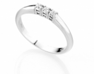 GioielleriaMaglione.it - Anello Trilogy Diamonds Luxury con 3 Diamanti 0.09ct in oro bianco 18kt